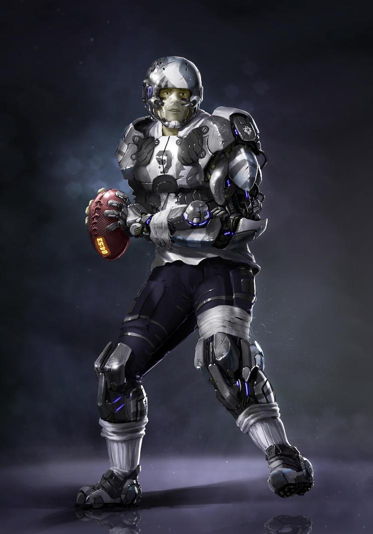 American footballer futuristic by ptitvinc