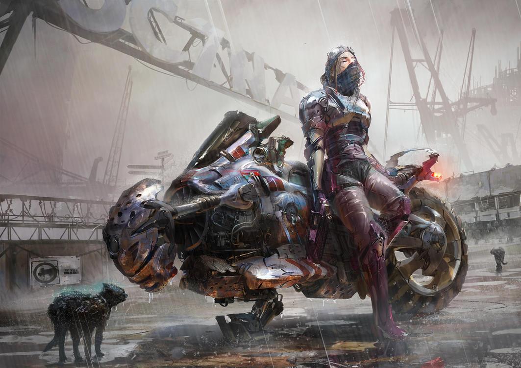 Motorbike Cyberpunk by ptitvinc