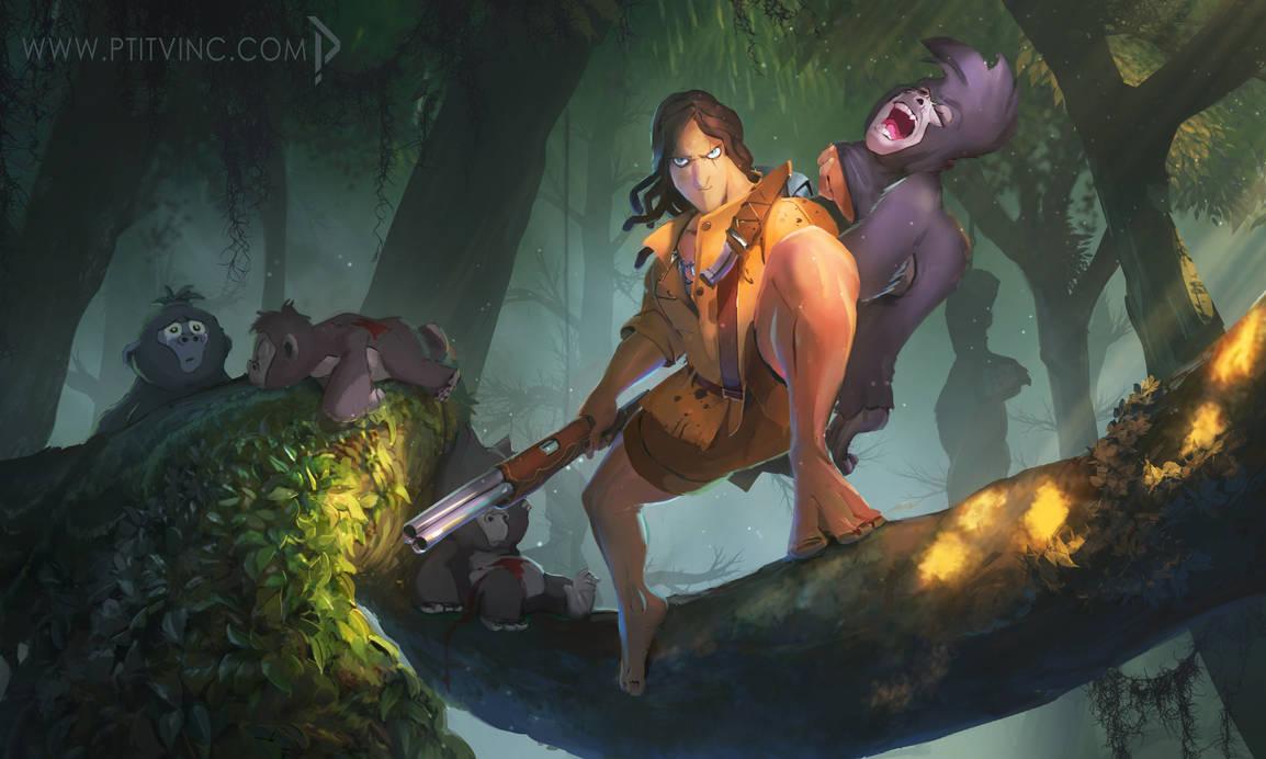 Tarzan the hunter by ptitvinc