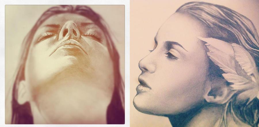 WIP - two portraits by VK-oelala