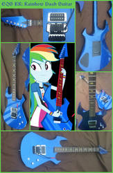 Equestria Girls Rainbow Dash Guitar by KeenKris