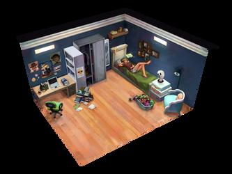 NDU: andi's room by hagiVII