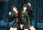 Fanny and Mary Explore the Forbidden Forest by PippaFashions