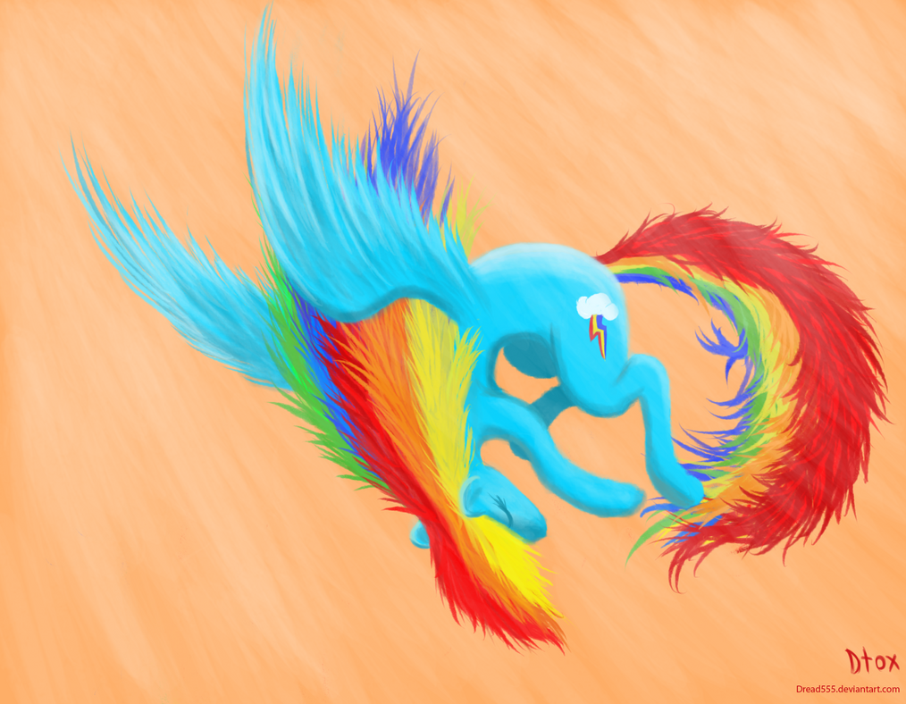 Rainbow Dash in the Sky by Dread555