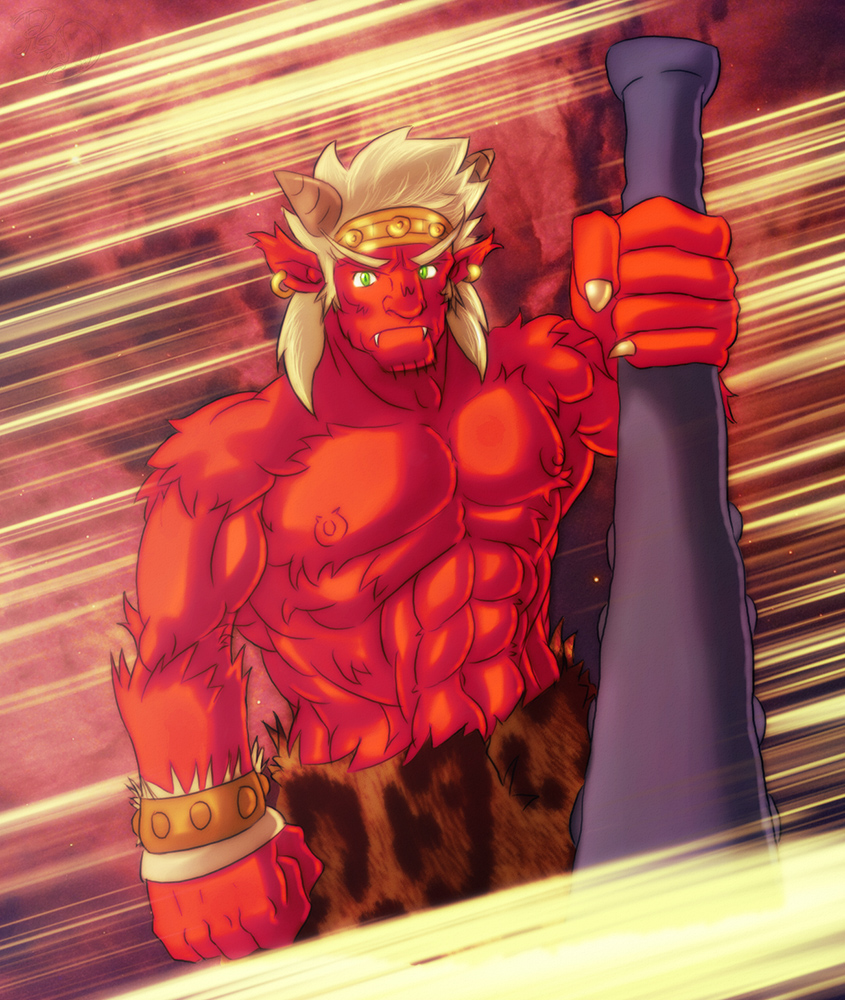 Oni Japanese Red Demon By Leomon32