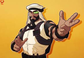 Rashid - V - Street Fighter 5 by leomon32