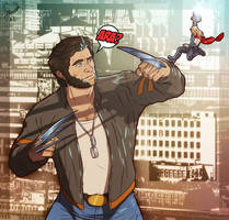 Wolverine VS Tiny Thor by leomon32