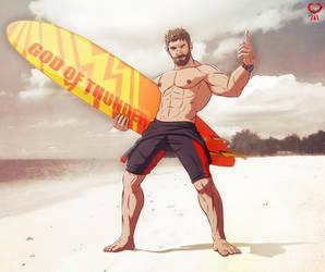 Surf dude + Chris Hemsworth