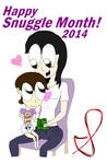 Shaney and his Mommy Reading (Snuggle Month 2014)