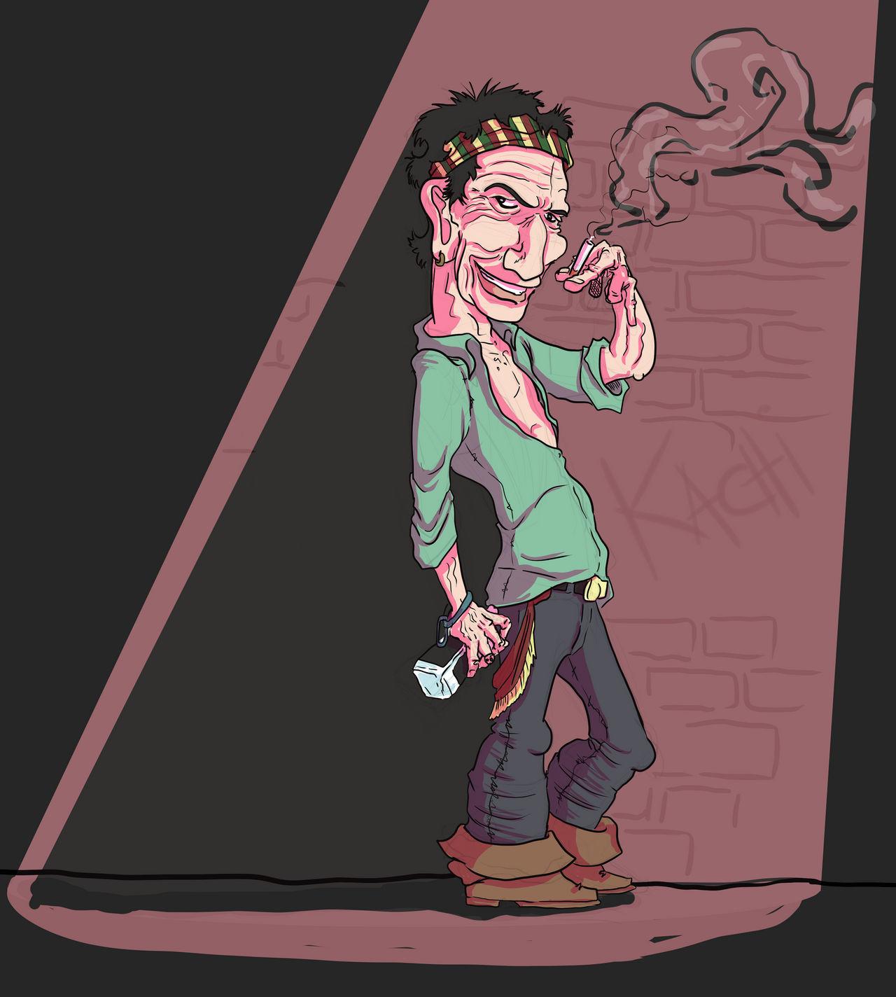 Keith Richards caricatura