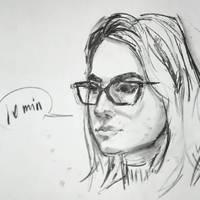 10 min portrait by keera-art