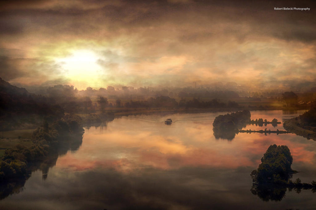 The Donau River by BieleckiRobert