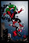 Nightcrawler and Harley Quinn