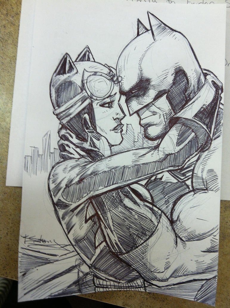 BATMAN AND CATWOMAN SKETCH by TactusVamp on DeviantArt