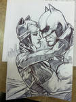 BATMAN AND CATWOMAN SKETCH