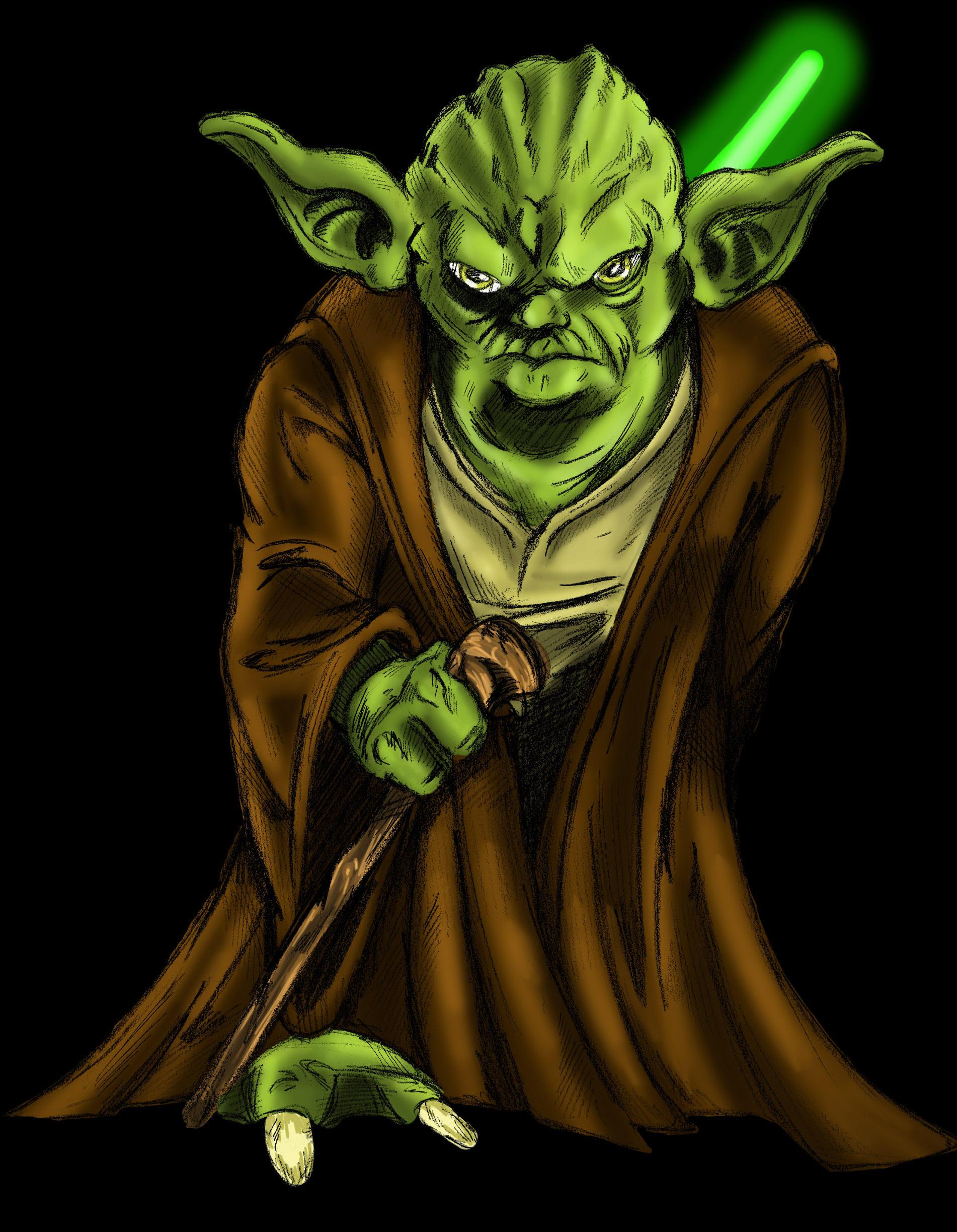 Line Art Yoda : Yoda by tactusvamp on deviantart