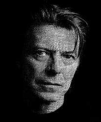 David Bowie Typography Tribute
