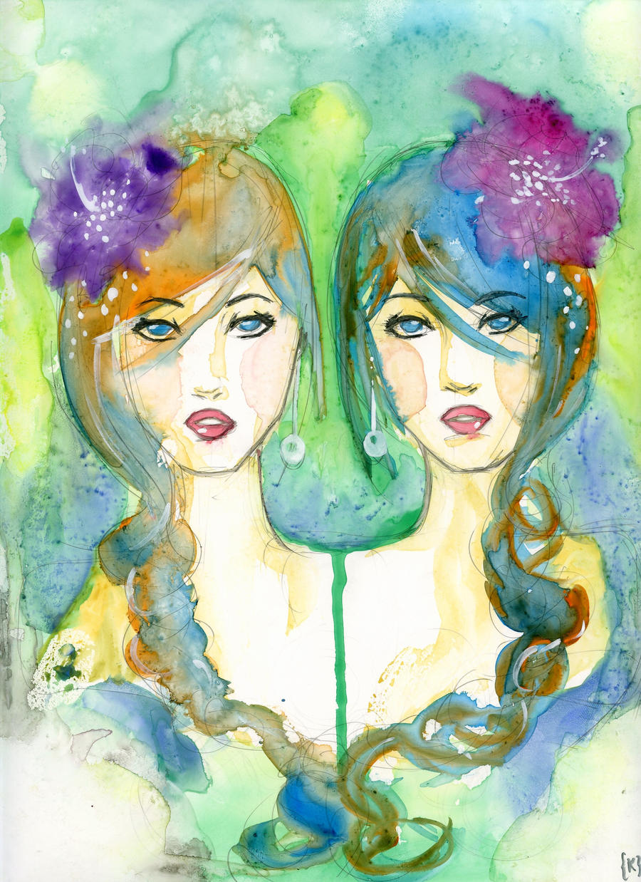 flower sisters by psychotic-cheshire