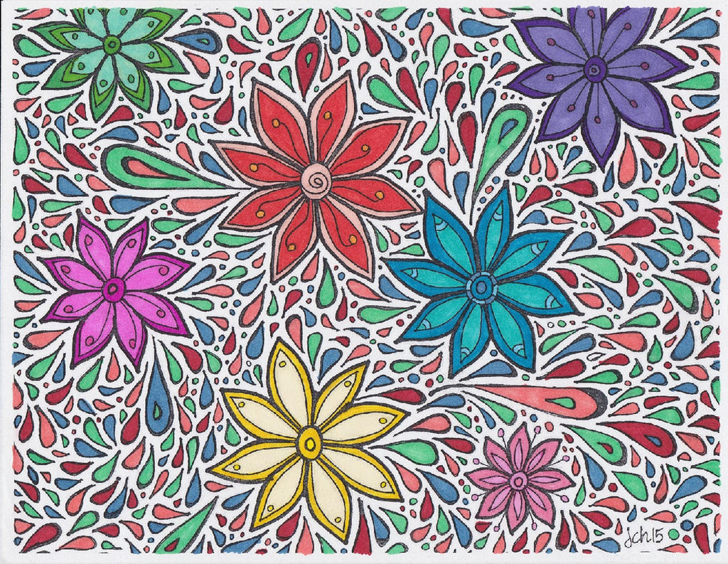 Funky Flowers Color by FaylinaMeir
