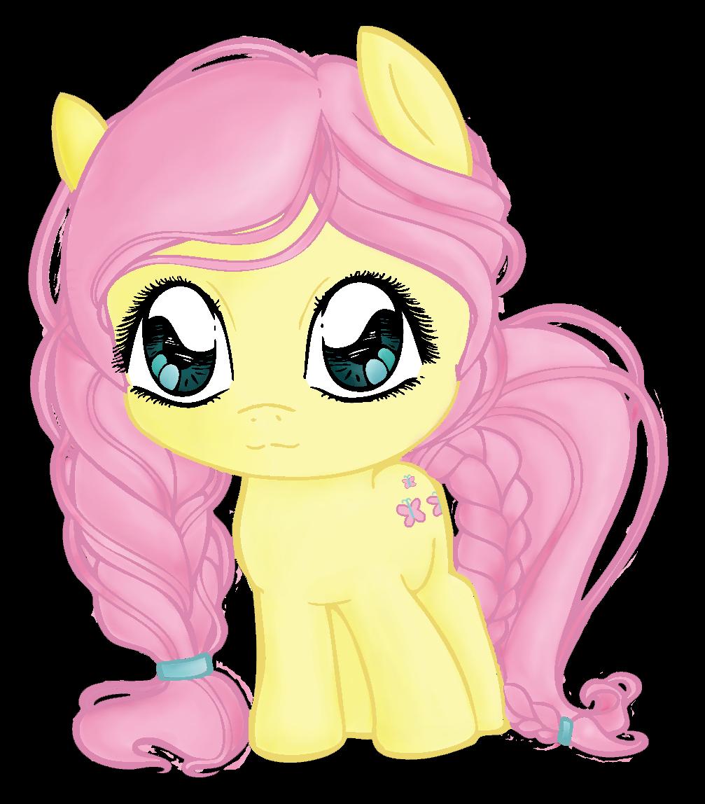 My Little Pony Fluttershy Pony Chibivi Color By Faylinameir On Deviantart