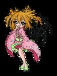 Fate Winged Geisha Girl - Sureya Lineart Color