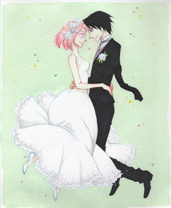Sasusaku wedding by monyta