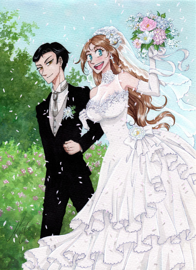 The wedding by monyta