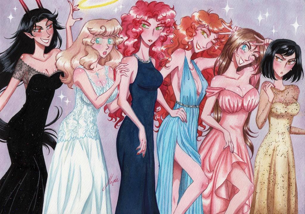 Girls girls girls by monyta