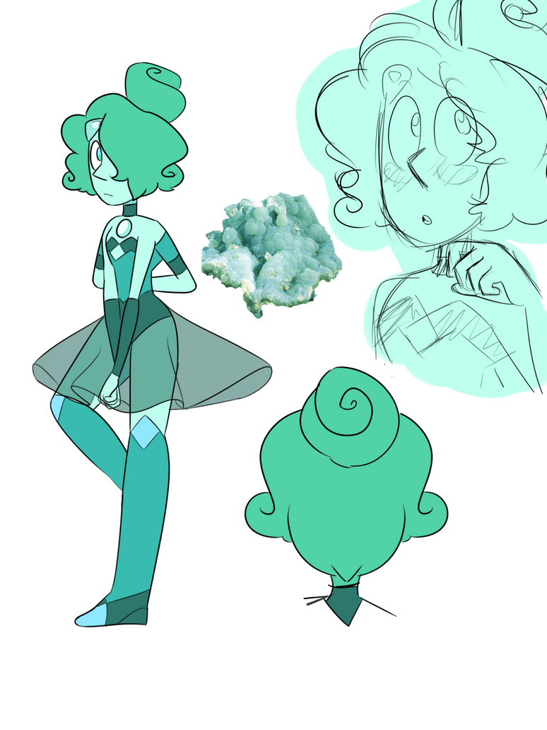 Blue neprhite - blue pearl and penny fusion by leo0125