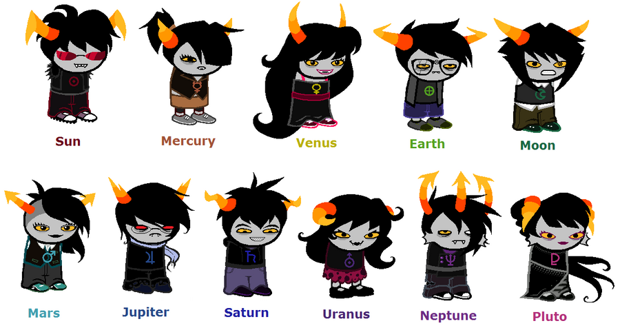 Homestuck Troll Adoptables - Planetary Collection by AlmightySponge