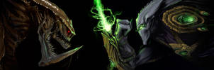 Hydra vs Zeratul by Mr--Jack