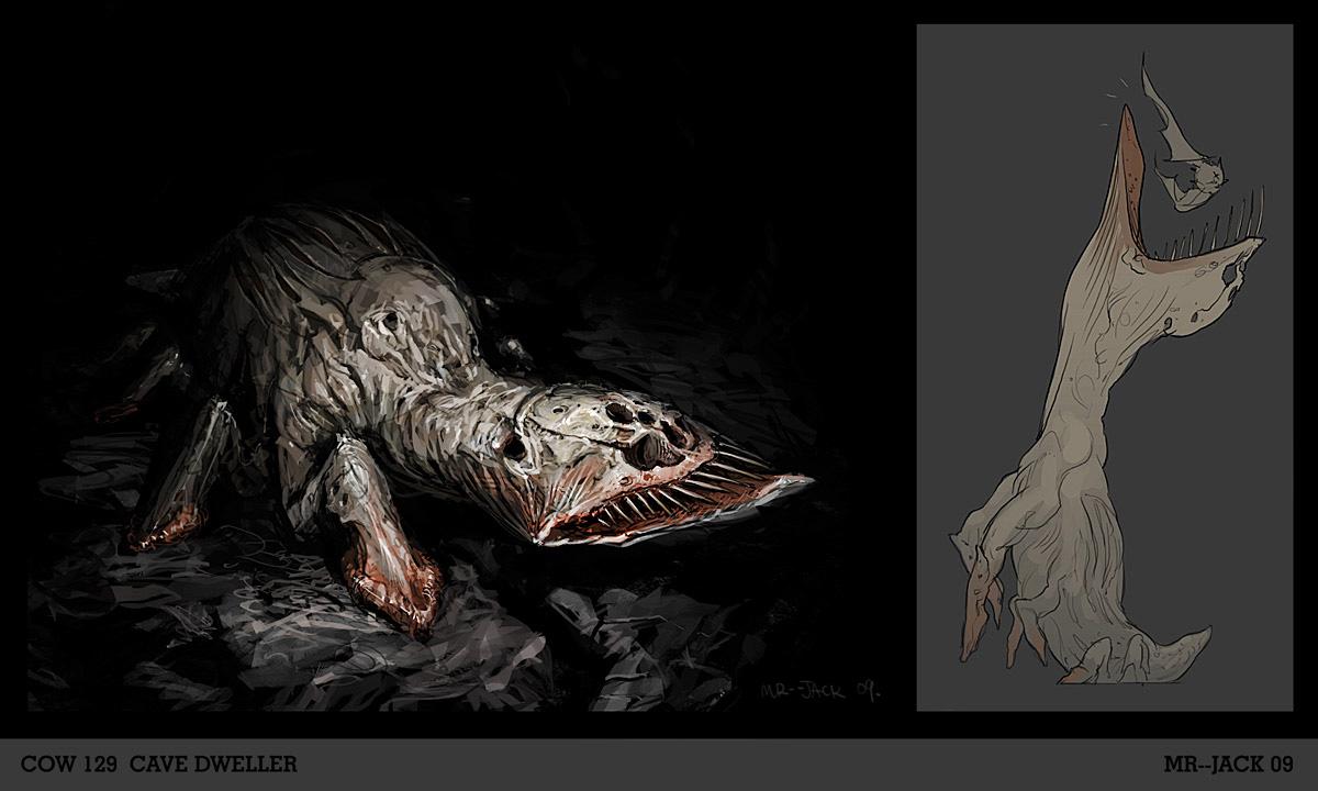 Plėšrūnai Blind_Cave_shark_by_Mr__Jack