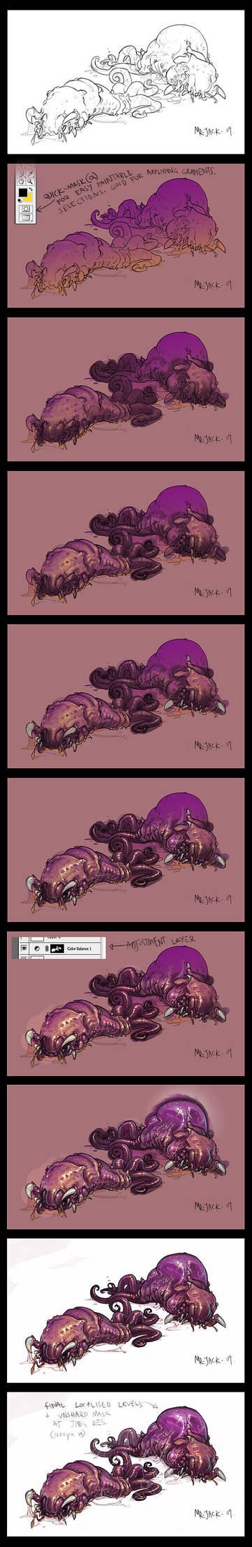 Larvae progress