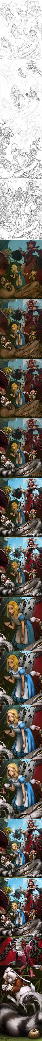 Alice in Wonderland Process by Mr--Jack