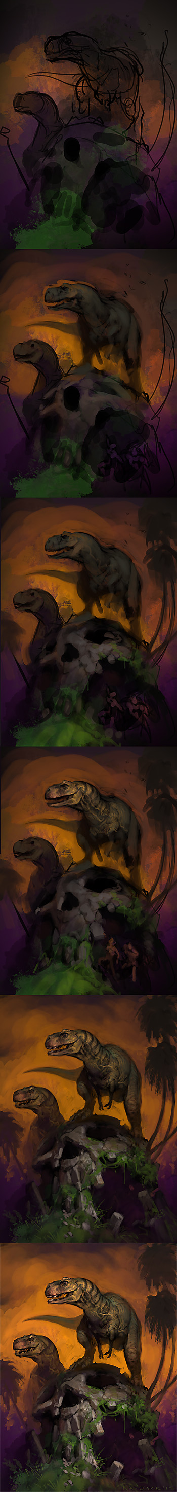 Theropod Dawn Process by Mr--Jack