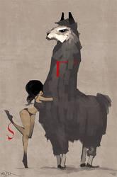Llama Love by Mr--Jack