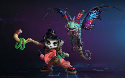 Faerie Dragon and the World Wanderer by Mr--Jack