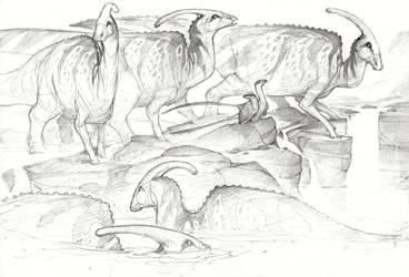 Parasauroloph by Mr--Jack
