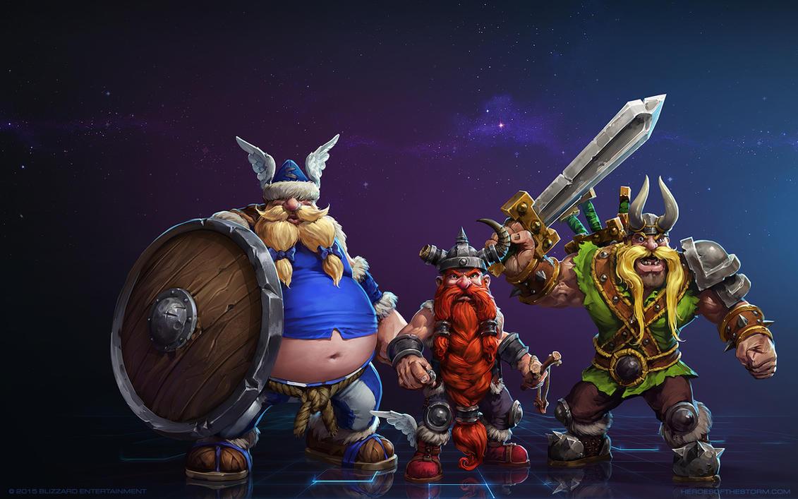 The Lost Vikings - Olaf, Erik and Baleog by Mr--Jack