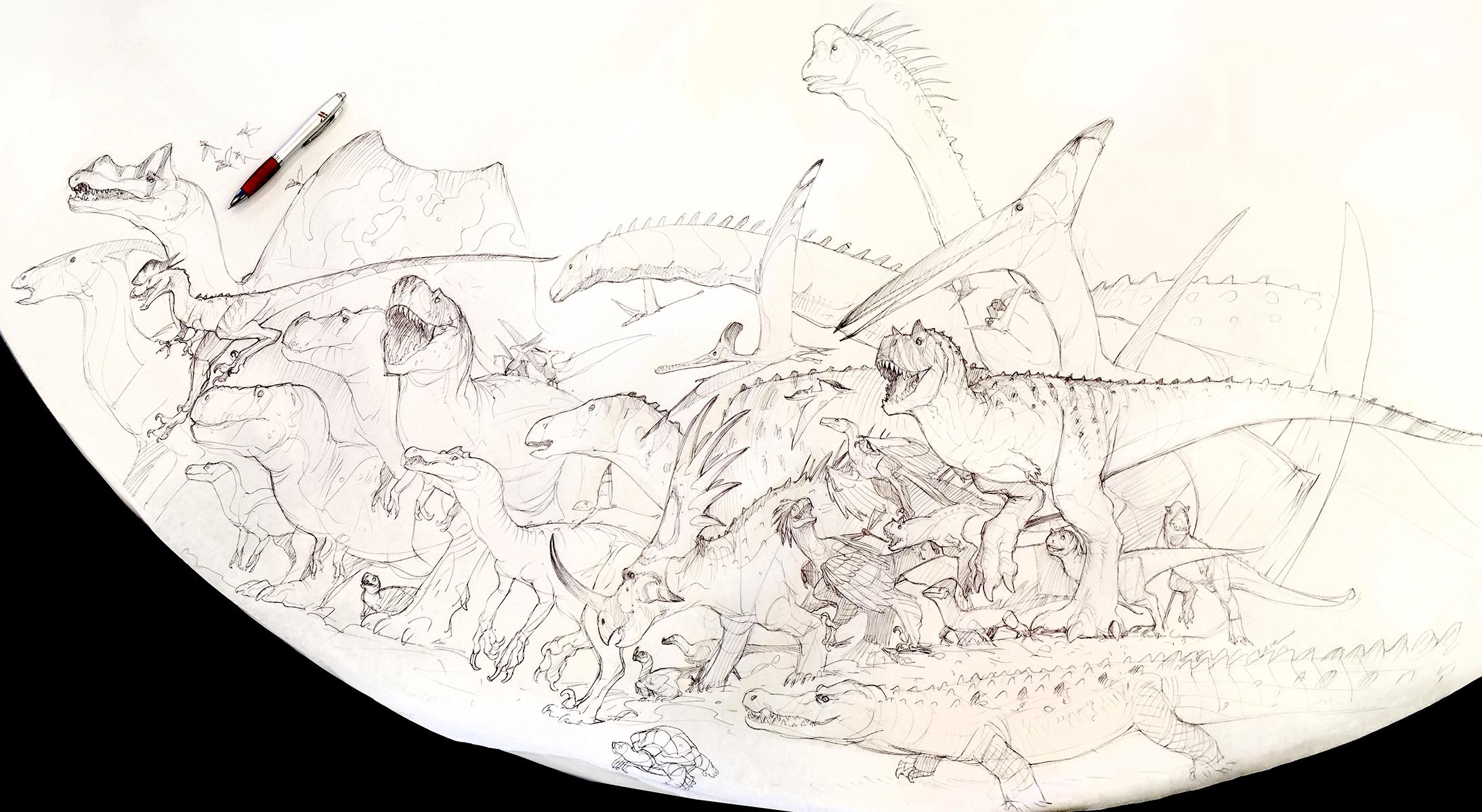 Dino Parade by Mr--Jack
