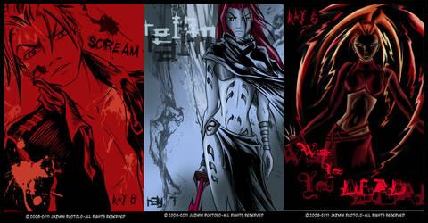 Broken Wings Web-Comic Covers by JazKittyRocks