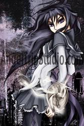 Homura-Madoka Magica by JazKittyRocks