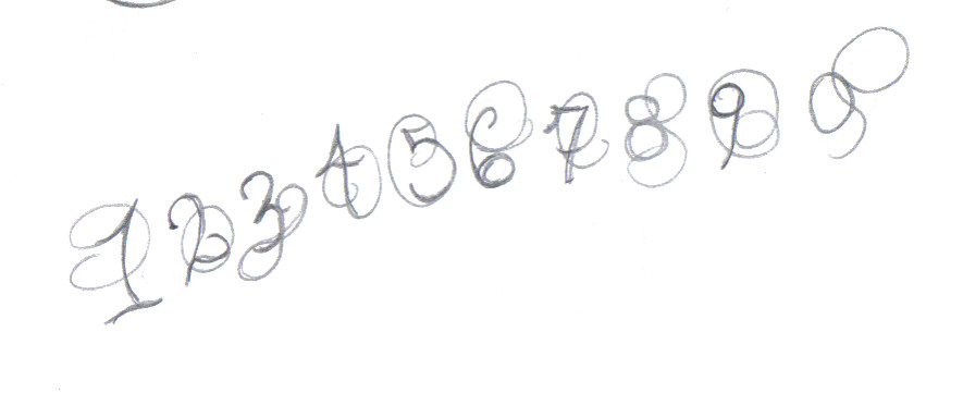 Calligraphy numbers by tom girl on deviantart