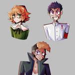 Dangan trio,  Chihiro, Taka and Mondo!