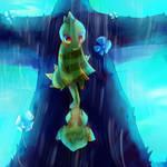 Monster kid and waterfall bird