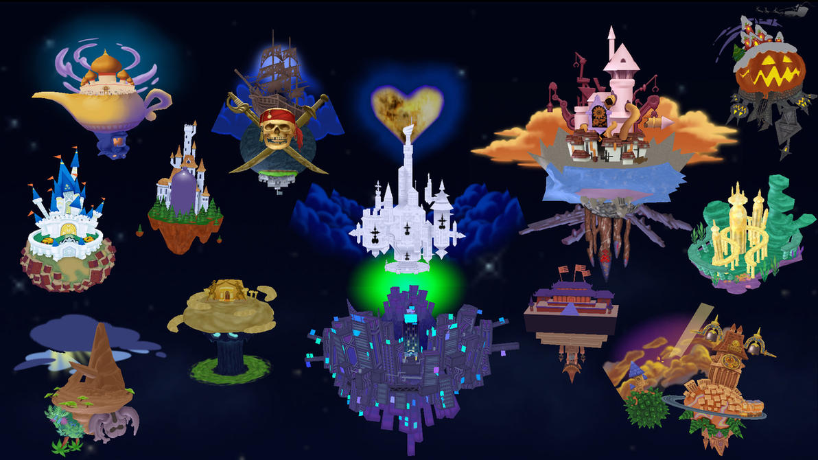 Kingdom Hearts II Worlds for MMD by whitepaopu on DeviantArt