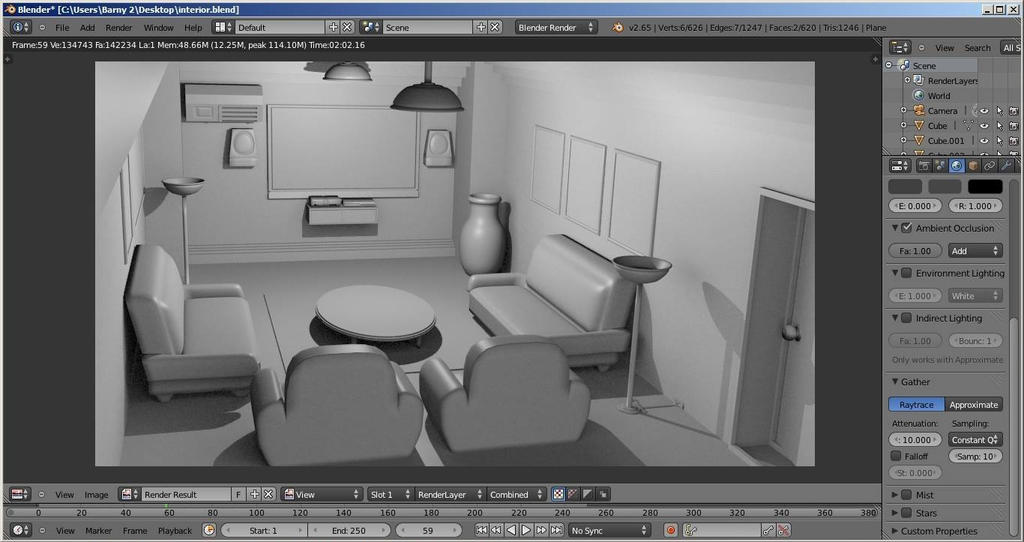 interior test design by barn79 on deviantart
