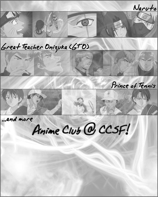 CCSF Anime Club Flyer by nautsume