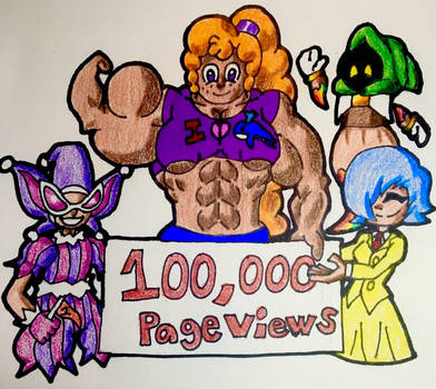 100,000 Page Views! by PoFtheDeviant