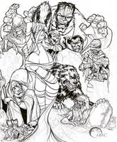 Classic Monsters inking Deviant